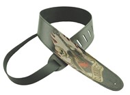 Henry Heller HST25 Leather Strap with Graphic, 2.5in, Django Skull