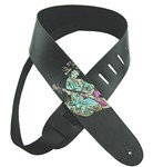 Henry Heller Leather Strap With Graphic (2.5 Inch, Geisha, HG25-06)