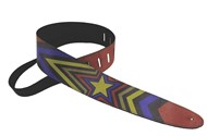 Henry Heller Leather Strap With Graphic (2.5 Inch, Multicoloured Stars, HBN25-06)