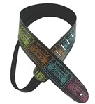 Henry Heller Leather Strap With Graphic (2 Inch, Multicoloured Cassettes, HTB2-04)