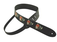 Henry Heller Leather Strap With Graphic (2 Inch, Winged Skulls, HOS2-01)