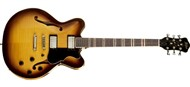Hofner HCT VeryThin CT Semi-Hollow, Sunburst