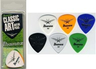 Ibanez BCI16M Classic Art Celluloid Picks, Medium, 6 Pack