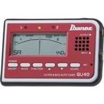 Ibanez GU40 Guitar/Bass Tuner, Red
