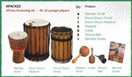 African Drumming Kit For 12 Younger Players