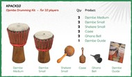 Djembe Drumming Kit - For 10 Players