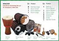 Full African Drumming Kit - For 18 Players / Older Kids