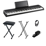 Korg B1 Digital Piano Bundle, Black