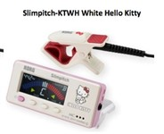 Korg Slimpitch Chromatic Tuner plus Contact Tuner (White Hello Kitty)