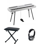 Korg SP-280 Digital Piano With Accessories, White