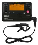 Korg TM-50C Chromatic Tuner Metronome Mic Bundle, Black