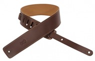 Levys DM1 Leather Strap, Edge Stitching, Brown