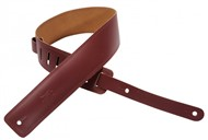 Levys DM1 Leather Strap, Edge Stitching, Burgundy