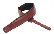 Levys DM1PD Padded Garment Leather Strap, Burgundy