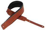 Levys DM1PD Padded Garment Leather Strap, Walnut