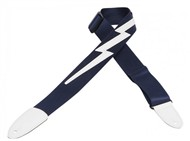 Levys DM5 Polypropylene Strap with Lightning Bolt, Navy