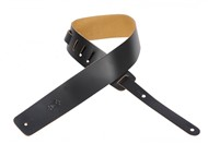 Levys M1 Plain Leather Guitar Strap (Black)