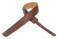 Levys M1 Plain Leather Guitar Strap (Brown)