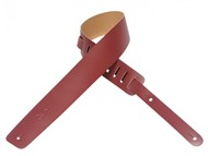 Levys M1 Plain Leather Guitar Strap (Burgundy)