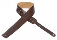 Levys M1 Plain Leather Guitar Strap (Dark Brown)