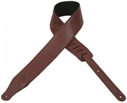 Levys M26BL Garment Leather Deluxe Guitar Strap (Burgundy)