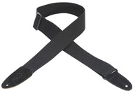 Levys MC8-BLK 2 inch Cotton Guitar Strap (Black)