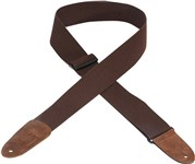 Levys MC8-BRN 2 inch Cotton Guitar Strap (Brown)