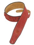 Levys MSS3 Suede Leather Strap, Burgundy