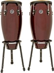 LP Aspire Conga Set with Basket Stands (Dark Wood)