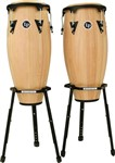 LP Aspire Conga Set with Basket Stands (Natural)