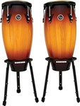 LP Aspire Conga Set with Basket Stands (Vintage Sunburst)