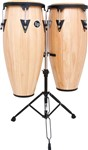 LP Aspire Conga Set with Double Stand (Natural/Black)