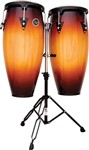 LP Aspire Conga Set with Double Stand, Vintage Sunburst/Black