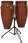 LP City Series Conga Set with Stand (11in/12in, Carved Mango Wood)