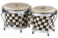 LP Aspire Accent Wood Bongos (Checkerboard) - LPA601-CHKC