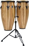 LP Aspire Walnut Conga Set (10/11in, Slide Mount Double Stand) - LPA646-SW