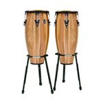 LP Aspire Walnut Conga Set (11/12in, Basket Stand) - LPA647B-SW