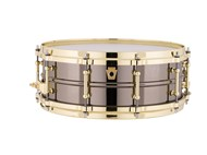 Ludwig Black Beauty Snare Drum With Gold Hardware
