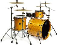 Mapex SV426XB Saturn V MH Exotic Classic Rock Shell Pack (Amber Maple Burl) - Special Order