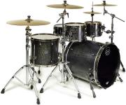 Mapex SV529XUB Saturn V MH Exotic Sound Wave Shell Pack (Flat Black Maple Burl)