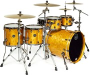 Mapex SV628XB Saturn V MH Exotic Fusion Twin Shell Pack (Amber Maple Burl) - Special Order