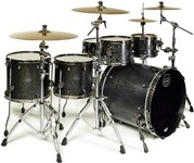 Mapex SV628XEB Saturn V MH Exotic Sub Wave Twin Shell Pack (Flat Black Maple Burl)