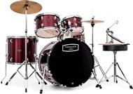 Mapex TND5044TC Tornado 5 Piece Beginners Fusion Kit, Burgundy