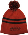 Martin Beanie Hat Red/Black Stripe