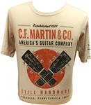 Martin Dual Guitar T-Shirt Black
