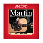 Martin M140 Traditional 80/20 Bronze Acoustic Strings, Light, 12-54