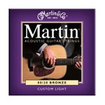 Martin M175 Traditional 80/20 Bronze Acoustic Strings, Custom Light, 11-52