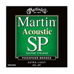 Martin MSP4000 SP 92/8 Phosphor Bronze Acoustic Strings, Extra Light, 10-47