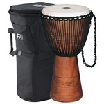 Meinl Original African Style Rope Tuned Wood Djembe (10in) + Bag