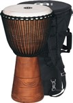Meinl Original African Style Rope Tuned Wood Djembe (13in) + Bag
